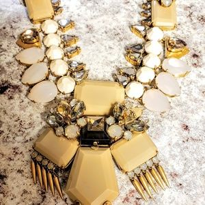 J.Crew Statment Crystal Art Deco Necklace